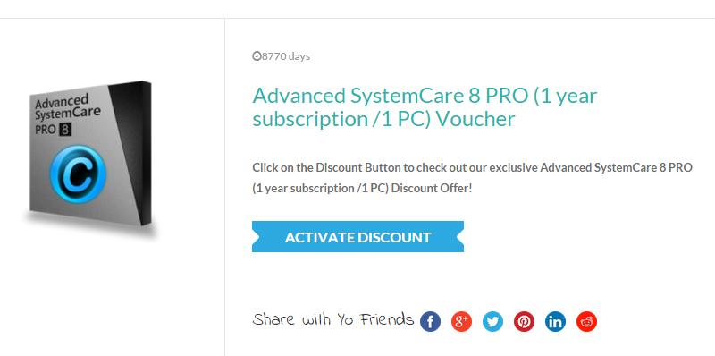 Advanced Systemcare Pro Discount Code
