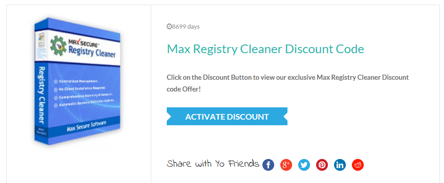 MaxSecure_Max_Registry_Cleaner_Discount_Coupon_Codes