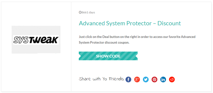 Advanced System Protector – Discount