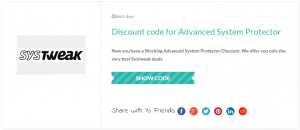 Discount code for Advanced System Protector
